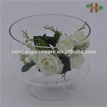 short stem cylinder glass fish bowl,glass goblet fish bowl