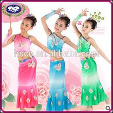 2014 classical beauty dancing dress for girls peacock dancing costume wholesale