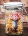 alta qualidade espessura vaso de flor de impressão desenho livre leed vidro alimentos recipientes de armazenamento de pequeno frasco de vidro com tampa