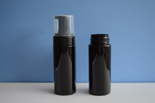 150ml/5oz foam pump black plastic bottle, plastic bottle