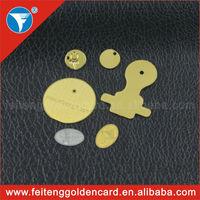 new launching mirror effect wholesale 24k/18k gold plating handbag logo metal plate /metal plate logo
