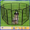 Black vinly metal portable dog fence