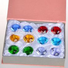 wedding souvenirs wholesale crystal glass diamond paperweights decorative glass diamonds