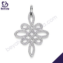 Sterling Silver Pendant,buddhist silver mandala pendant