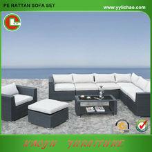 Lillian 2014 black wicker/rattan sofa/lounge furniture, sofa coffee table side table