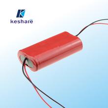 Keshare Assembled Battery Pack 1S2P 3.7v 6000mah li-ion battery pack 3.7v
