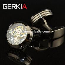 GERKIA Functional tourbillon mechanical watch cufflinks male French cuff links man men cufflink Gift free shipping 991068