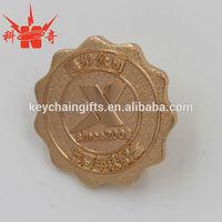 High quality promotional custom metal gold plating badge lapel pins maker