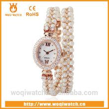 long strap vintage watch natural pearl bracelet watch