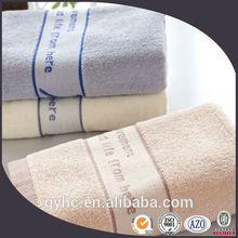 Super cheap 100 cotton plain dyed border sport towels