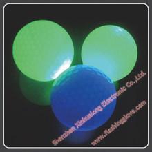 Fluorescence similarly flashing golf ball, colored golf balls, LED golf ball