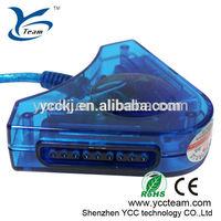 Factory direct sale blue color usb joystick converter for ps2