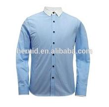 Good quality cheap sky blue color shirt for men
