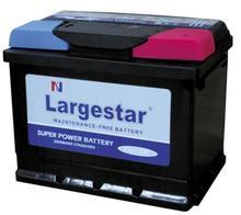 Auto battery Largestar MF DIN55 (55559) 12V 55AH