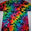 Professional oem top quality crewneck short sleeve printed 100%polyester men tie dye t-shirt
