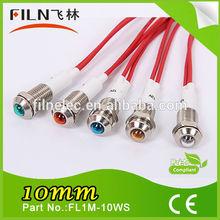 Hot Sale Manufacturer Led 10mm low voltage led indicator 12v led(FL1M-10WS)