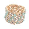 sideling pazel crystal bracelets, elastic indian cuff bracelets, fashion show matching cloth bracelet
