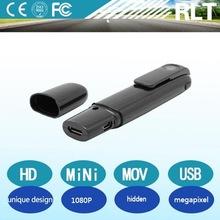 HD 1080P Unique design Recording with recharging li battery Video& Audio output function Hidden Mini Camera