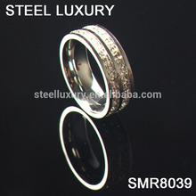 2014 Lastest Full Diamond 316L stainless steel men diamond rings