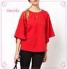 Wholesale Ladies Top Fancy Silky Kimono Sleeve Shirt