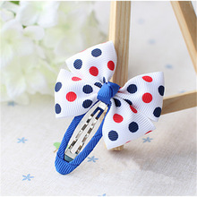Wholesale fashion lovely fabric Hair Clips cheap boby hairpin for kids Navy blue