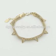 Rivet bracelet china supplier gold bracelet designs men