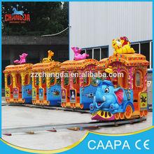 Super supplier amusement park mini train rides, playground rides elephant track train