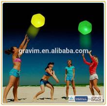 2014 New Custom Hot Selling Promotion Fluorescent Glow Plastic Beach Toy Balls