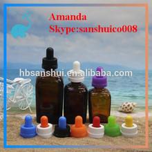 amber square glass bottle mass stock
