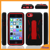 Fashion glossy red robot design Kickstand case for Iphone 5c, combo case for iphone5c, mobile phone case wholesale