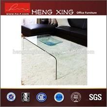 Economical metal leg hand carved teak coffee table