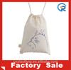 Wholesale OEM promotion custom cotton drawstring bag