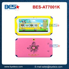 Top grade hot sell google long battery life 7 inch 800x480 kids laptop and tablet pc
