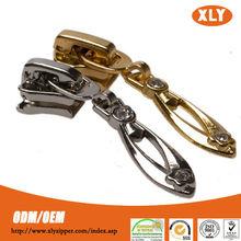 Fashion garment accessory zippers sliders custom metal zipper pull hot sale