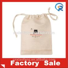 Wholesale OEM promotion recycled eco cotton drawstring bag