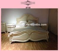 simple design pine wood single bed