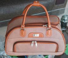 PU fashionable duffel bag with trolley