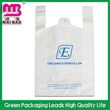 customized printing pattern plastic vest carrier bags t shirt bag with thank you printing