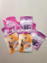 Packaging sugar ziplock sachet/packet tea/aluminum foil packet