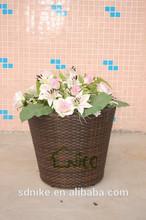 De alta calidad de la planta olla + rota del pe flor olla para el cementerio +garden olla de venta al por mayor