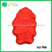Hot sale popular food grade Santa Claus shaped silicone cake pan cake mould