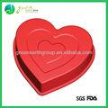 venda quente popular de qualidade alimentar em forma de coração de silicone bolo pan molde do bolo