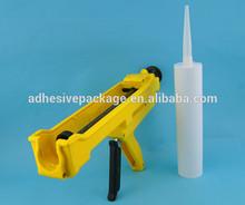 300ml one-component sealant cartridge, plastic cartridge for caulking gun