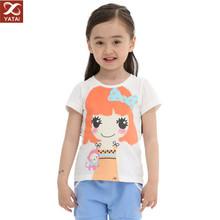 custom design top quality girls tshirt