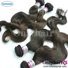 unproessed Combodian body wave virgin hair weave,10-30 inch in stock