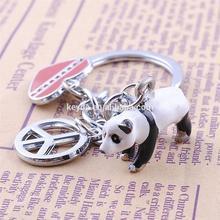 High-grade key chain ornament factory drip pet key chain giant pandas KYD-K1829