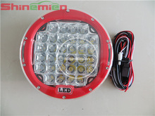 9inch 96w CREE chips Clear cover offroad cree led driving lights with wire harness
