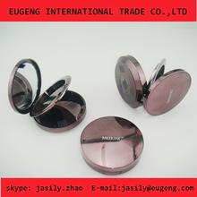 Round compact powder case with mirror