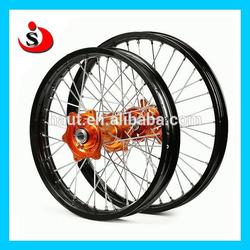KTM Motorcycle 17 Inch CNC Aluminum Supermoto Chrome Spoke Wheel