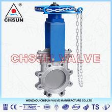 Chain Wheel Gate Valve, Chain Wheel Knife Gate Valve Made in China